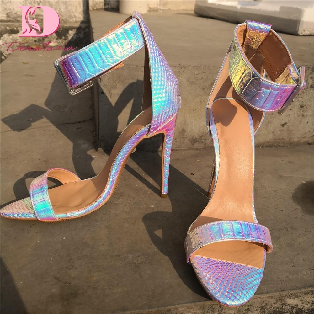 DoraTasia Brand Design Big Size 35 47 Sexy More Colors Party Women Shoes 2019 Summer Wedding
