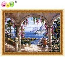 DPF с рамкой Алмазная картина вышивка крестиком живописный круглый полная Мозаика из стразов Бриллиантовая вышивка для дома Декор ремесла живописные