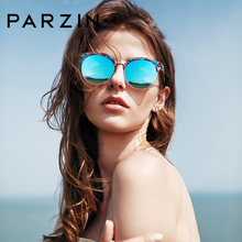2799ce6225 PARZIN Brand Retro Round Sunglasses High Quality Polarized Glasses For  Summer Driver Colorful Floral Frame Hollow