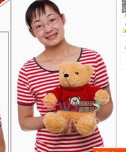 new lovely plush Teddy bear doll red cloth lovely bear doll gift about 35cm