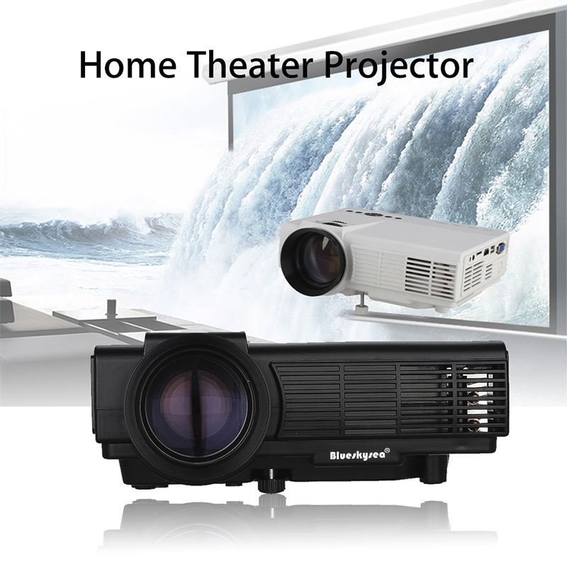 Q5 Mini LED Beamer Portable Projector Home Theater TV For Set Top Box Computer Camera Black/White Free shipping