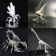 3D Metal Modell Kínai Zodiac Dinoszauruszok Szerencsés Isten Szörnyű késztermék Nem Összeszerelés Játékok Gyűjtemény Asztali Display Box