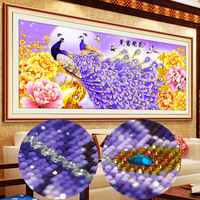 Diamond embroidery Layout Diamond painting rhinestones mosaic pattern cross stitch beads peacock crystal diamond pictures 180*80