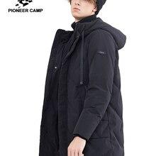 Pioneer camp new winter long down jacket men brand clothing