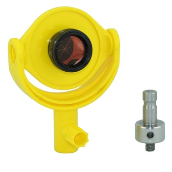 Tilting brackets with 25.4mm copper coated mini prism for total station M8 mini prism with 4 poles replace leica gmp111