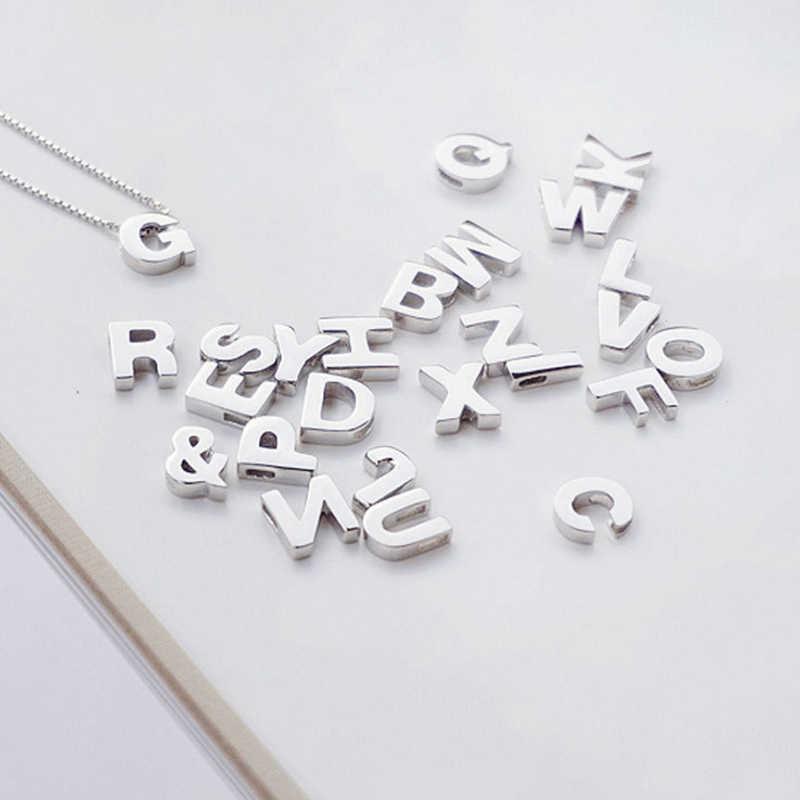 100% Real S925 เงินสเตอร์ลิงแฟชั่น Charm 26 ภาษาอังกฤษตัวอักษรผู้หญิงจี้สร้อยคอวันหยุดของขวัญ