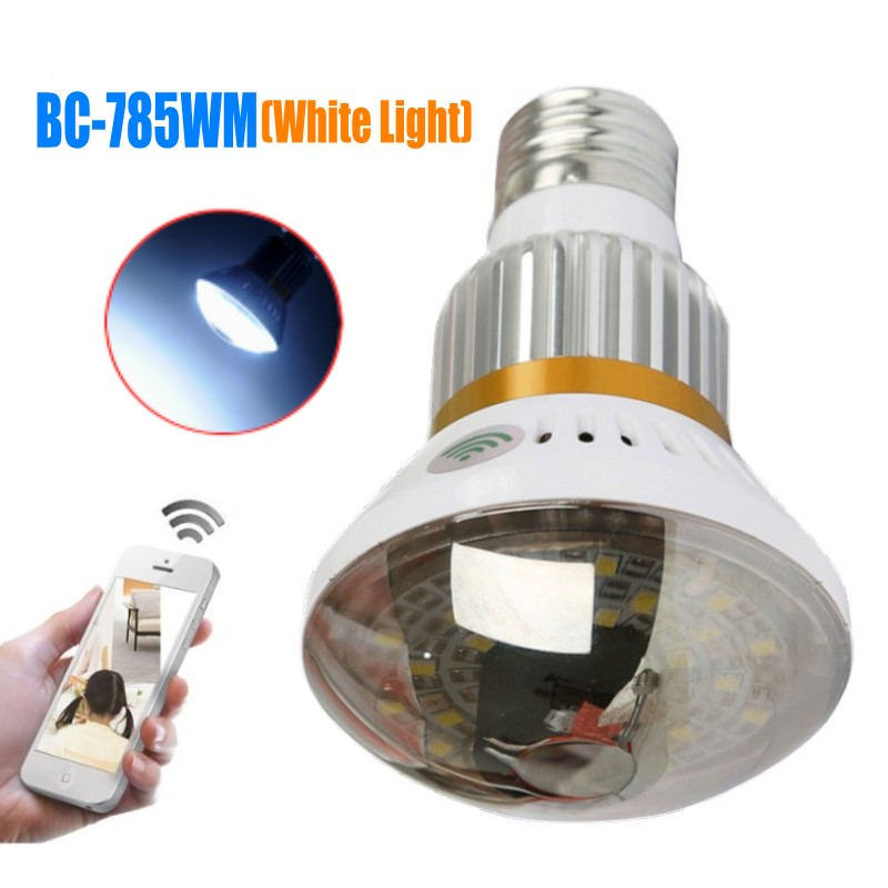 BC-785WM Bulb White Light P2P IP Network DVR Camera HD720P Mobile App Control Home Security Wifi IP Camera with Motion Detection ip 175wm bulb wifi camera 960p home security ip camera app remote control p2p ir led light wifi camera with white light