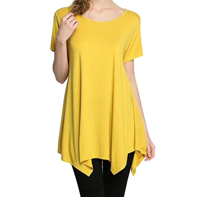 4f3e8f86b feitong summer tops for women 2018 Sexy Fashion t shirt women Casual Swing  Tunic Tops Loose Fit Comfy Flattering Casual T-Shirt