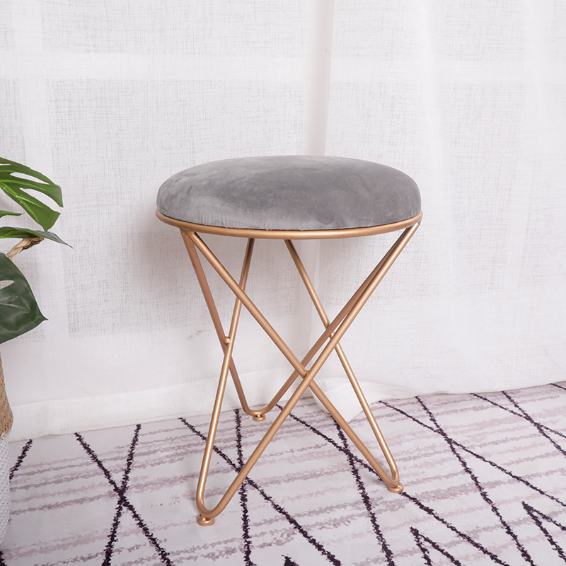 Living Room Sofa Footrest Stool Makeup Dressing Stool European Style Iron Art Shoes Bench Bedroom Coffee Table And Chair In Living Room Chairs From