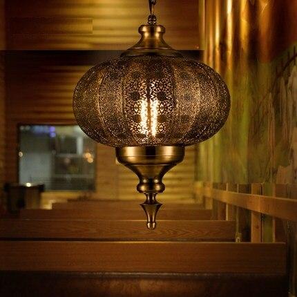 Loft Style creux fer Droplight industriel Vintage pendentif LED luminaires salle à manger suspension lampe décor intérieur éclairage - 3