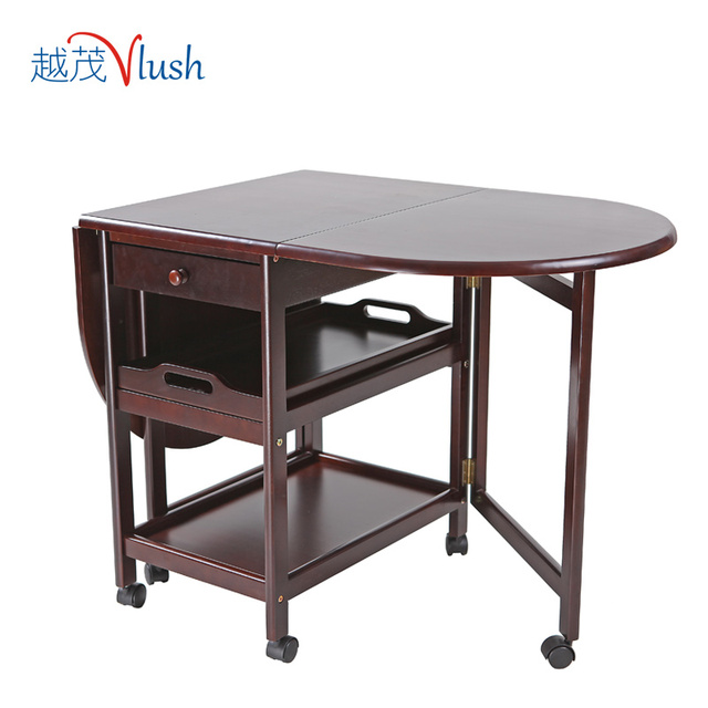 Yue Mao Japanese wood folding table dining table movable tables ...