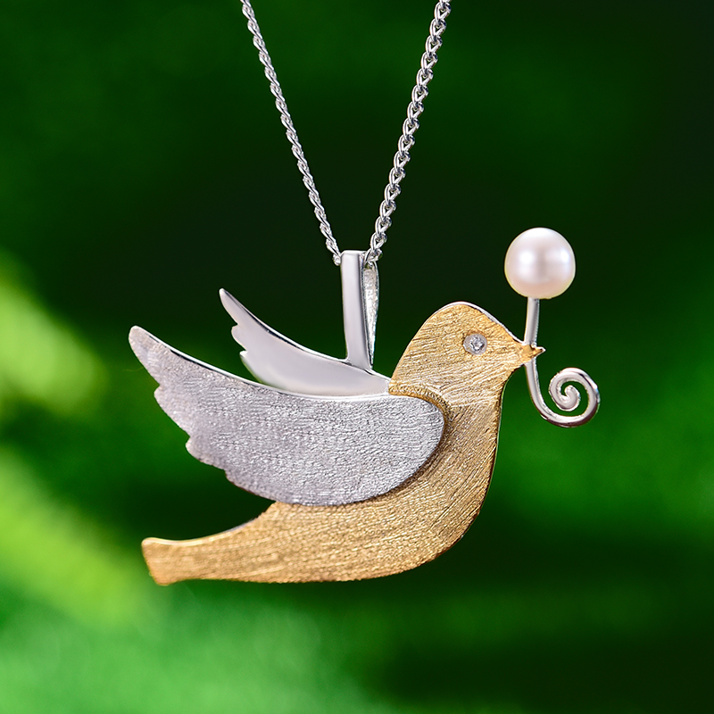 Cute Pigeon Pendant For Womens (Only Pendant)