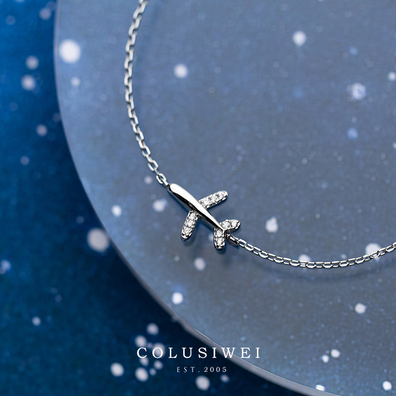 Colusiwei 100% 925 Sterling Silver Exquisite Plane Chain Bracelets & Bangles For Women Authentic Silver Fine CZ Jewelry Gift