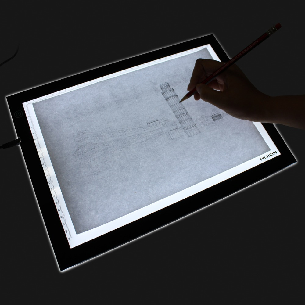 Craft light box for tracing - Aliexpress Com Buy Huion A3 Adjustable Led Light Pad Ultra Thin Graphic Drawing Tablets Copy Board For Tattoo Stencil Picture Tracing Painting A3 From