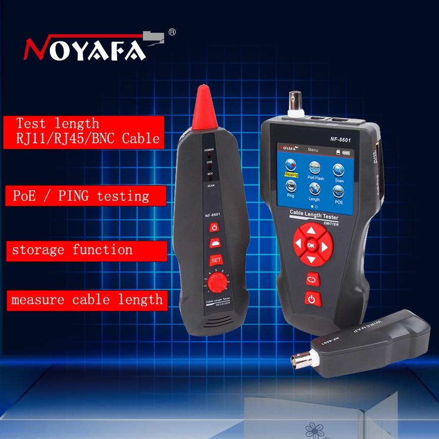 Originale Noyafa Multi-funzionale Cavo di Rete Tester LCD lunghezza Cavo Tester Breakpoint Tester Inglese versione NF-8601 non box