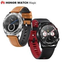 Уличные смарт часы Huawei Honor Watch Magic, оригинальные изящные тонкие часы с долгой работой аккумулятора, GPS, умным помощником, Amoled дисплеем 1,2 дюйма, 390^2