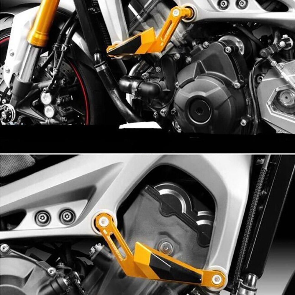 Protectores antica/ída MT 09 para modelos Yamaha MT-09/MT09/Tracer XSR900 2016 negro