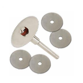 6 sztuk zestaw Mini HSS brzeszczot obrotowy narzędzie do Dremel Metal Cutter zestaw elektronarzędzi tarcze tnące drewna wiertła trzpień #8230 tanie i dobre opinie Maszyny do obróbki drewna KGDMPJ-45 NoEnName_Null