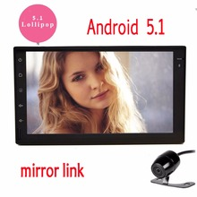 7″ Double 2 din Android 5.1 car DVD player HD Touch Screen 1080P Video 2 din GPS Navigation Stereo audio Screen Mirroring & OBD2