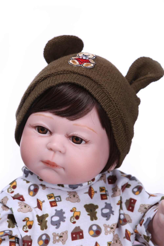 NPK Real 48 см силиконовая кукла для новорожденных, игрушка для ванны, Реалистичная Детская кукла «Принцесса», игрушка для девочек, подарок на день рождения и игрушки