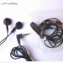 Fones de ouvido estereofônicos pretos de 05 fones de ouvido descartáveis fone de ouvido baratos para viajar ônibus