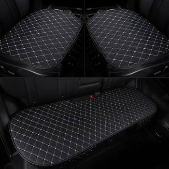 Pu Car Seat Cover Front Rear Leather Cushion Protector Mat Pad For Hyundai Solaris ix35 i30 ix25 Elantra Accent Tucson Sonata image