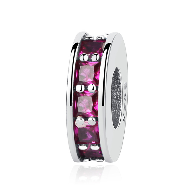 NBSAMENG Authentieke 925 Sterling Zilver Micro-pave Pure Color Spacer - Mode-sieraden - Foto 5