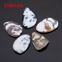 Agate Original Stone Irregular Pendant Bead Natural Gray Agate White Natural White Gemstone Ruby Jewelry Charms