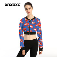 New Arrival 004 Sexy Women Gir Red Lip Print Tooch 3D Prints Sport Jogging Suits Short
