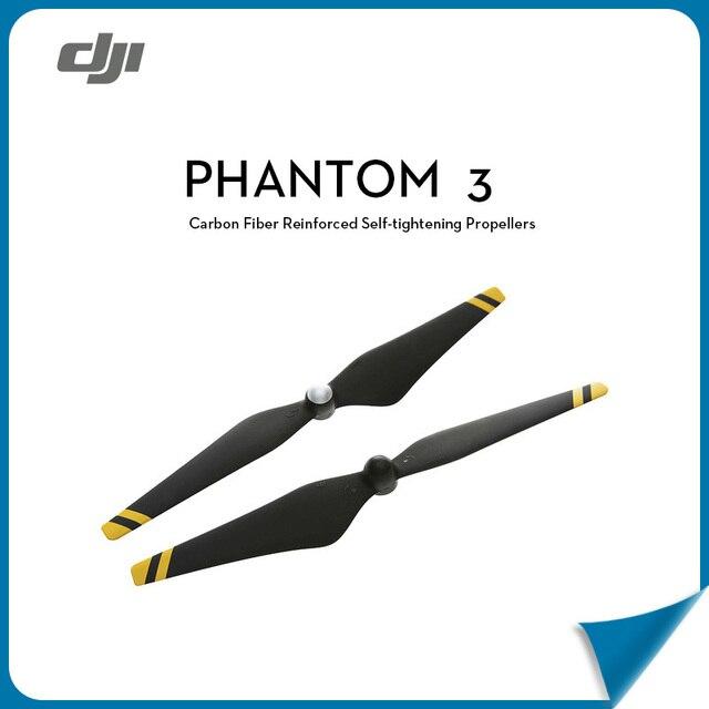 100% Original 9450 DJI Phantom 3 Propeller Carbon Fiber Reinforced Self-tightening Composite Hub Black with Yellow Sliver Strips