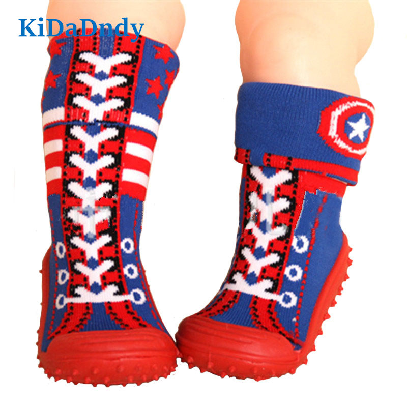 Baby Toddler Shoes Soft Bottom Toddler Socks With Rubber Soles Baby Floor Socks Slip Cuffs Infant Home Shoes Ws936