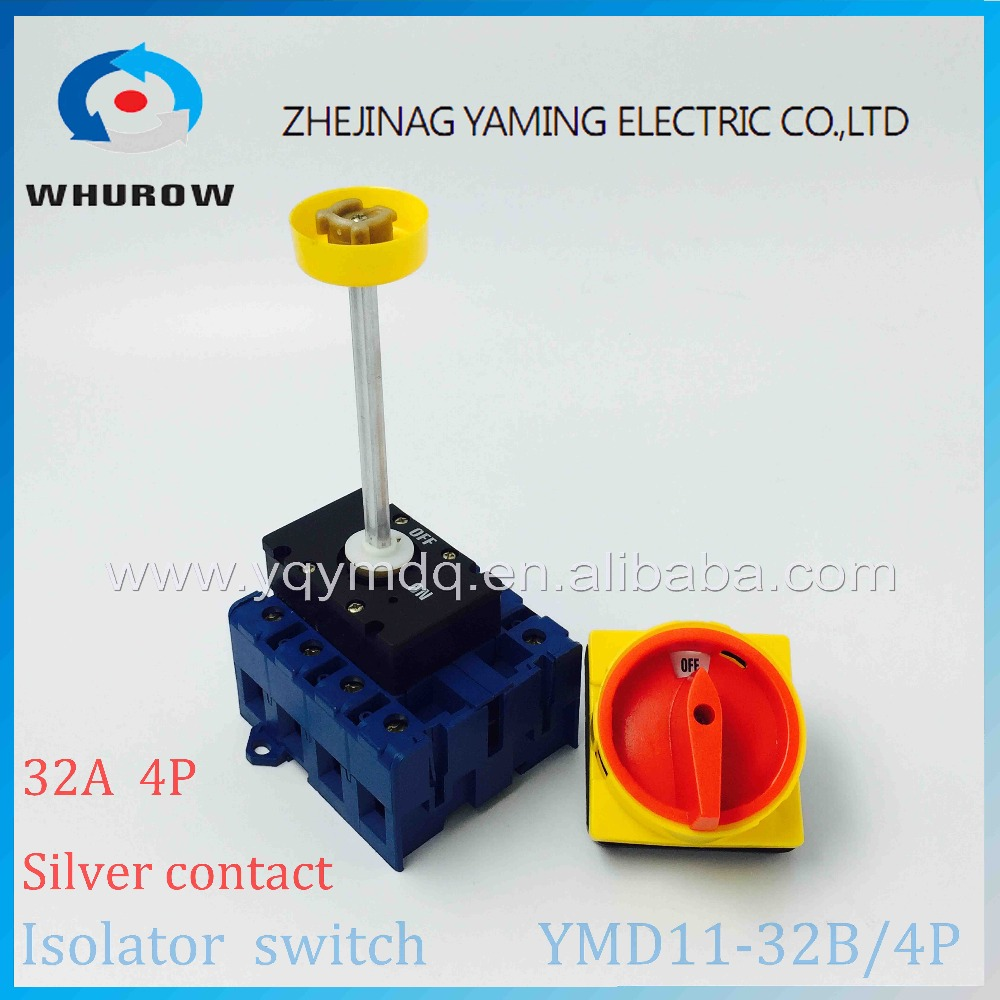 Isolator Switch Ymd11 32b 4p 690v With Padlock Aluminum Pole 32a Load Break Power Cut Off Operation Outside Electrical Cabinet In Switches From Lights 690 Double Light Wiring Diagram