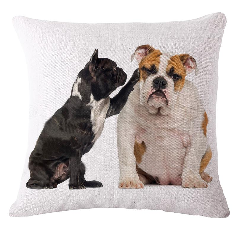 French Bulldog Cushions Without Core Seat Sofa Decoratives Pillows Cotton Linen Chair Throw Pillow Decor Cojines cojines