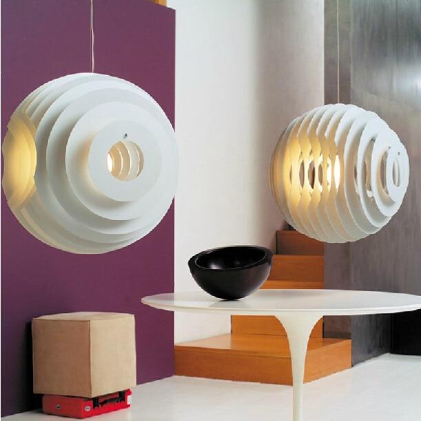 The Danish 42cm Dining Room Lamp Stage PH Artichoke Pendant White Chandelier Chandeliers