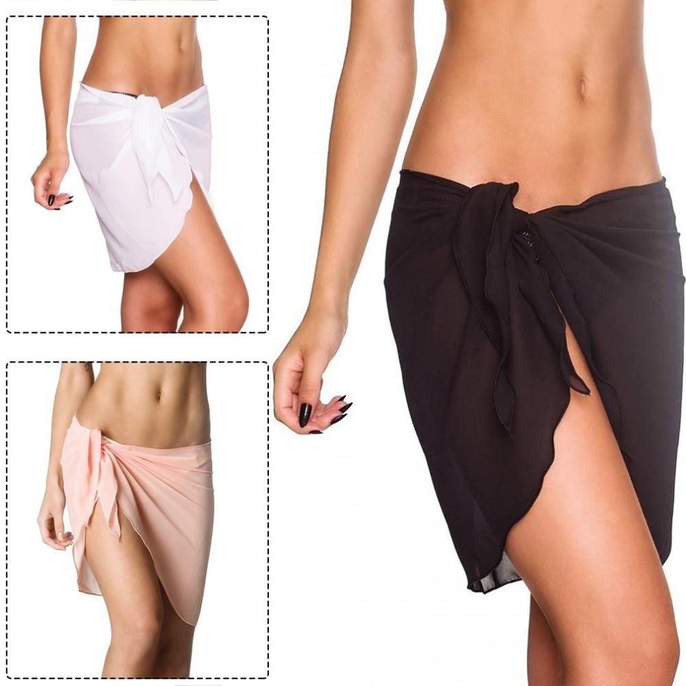 Sexy Women Bikini Chiffon Cover Ups Bathing Suit Sexy Swimwear Beach Dress Short Skirt Lady Comfortable Summer Beachwear