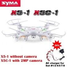 SYMA X5C-1 (Versión actualizada SYMA X5C) RC Drone de 6 Ejes, Helicóptero a Control Remoto, Cuadricoptero con Cámara HD de 2 Megapixeles o Cámara No X5