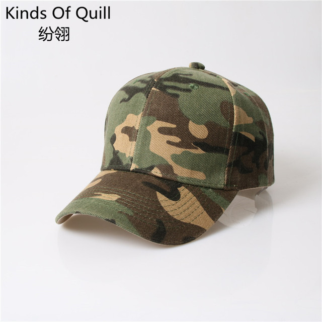 ac1cc284519f7 2016 Mens Army Camo Cap Baseball Casquette Camouflage Hats For Men Hunting  Camouflage Cap Women Blank Desert Camo Hat