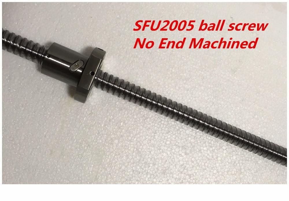 1 zestaw 2005 śruby kulowej SFU2005 z pojedyncze nakrętkę piłki 2005 z nie koniec obrabiane CNC części 20mm w Prowadnice liniowe od Majsterkowanie na AliExpress - 11.11_Double 11Singles' Day 1