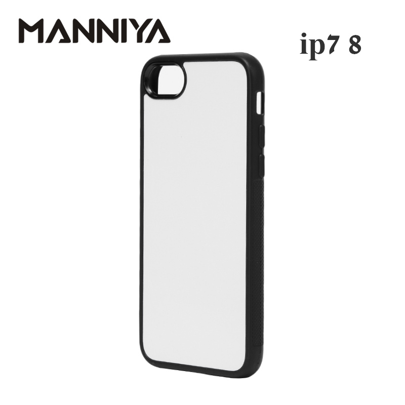 Image 3 - MANNIYA 2D Sublimation Blank rubber TPU+PC Case for iphone 7 8 with Aluminum Inserts and tape Free Shipping! 100pcs/lot-in Fitted Cases from Cellphones & Telecommunications