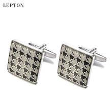 Лептоновые квадратные эмалированные запонки мужские высококачественные