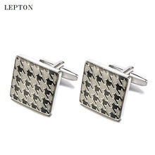 hot deal buy lepton square enamel cufflinks male french shirt cuff cuff links high quality brand men jewelry wedding groom mens cuff links