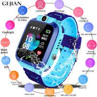 GEJIAN Crianças Relógios relógio de Pulso Posicionamento Rastreador SIM Card Chamada Localizador Anti-Perdido Do Monitor Da Câmera Foto Crianças Assista