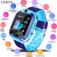 GEJIAN Kids Watches Positioning Wristwatch Tracker SIM Card Call Location Finder Anti-Lost Monitor Camera Photo Children Watch