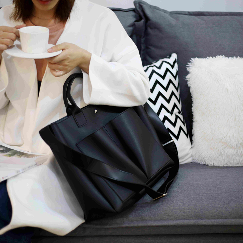 2018 new Pu Leather Bag Simple HandBag Famous Brands lady Shoulder Bag Big Trunk Tote Vintage Ladies Crossbody Bag