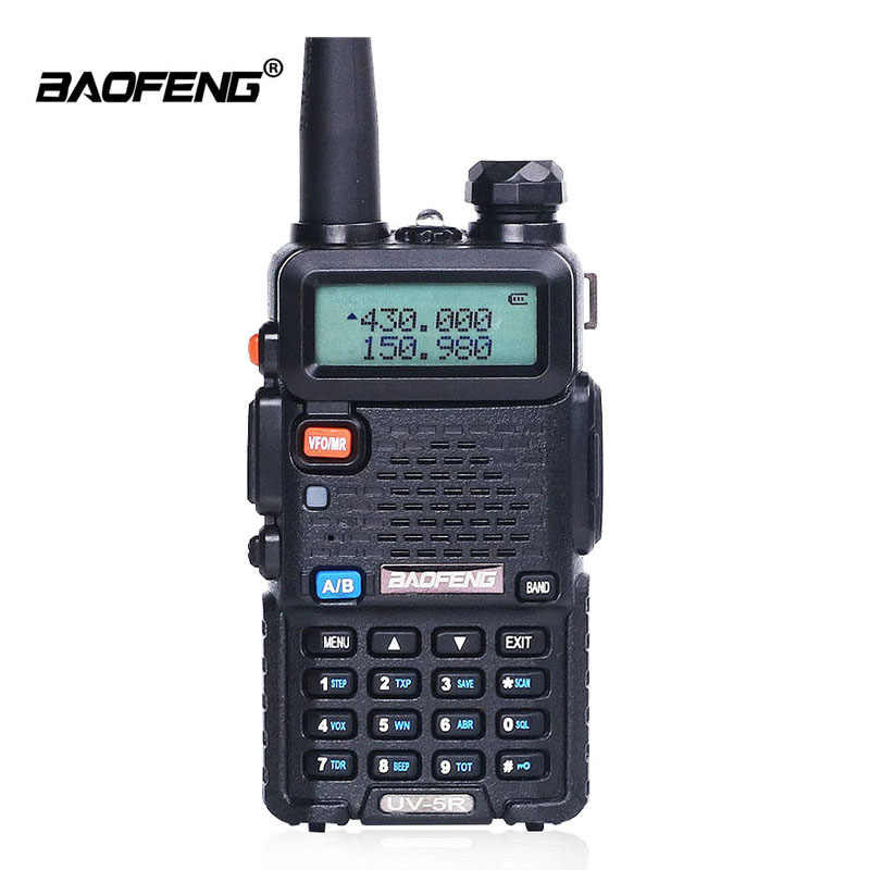 Baofeng UV-5R Walkie Talkie CB Radio Station VHF UHF 5W 128CH Portable Radio Transceiver UV 5R Hunting Radio