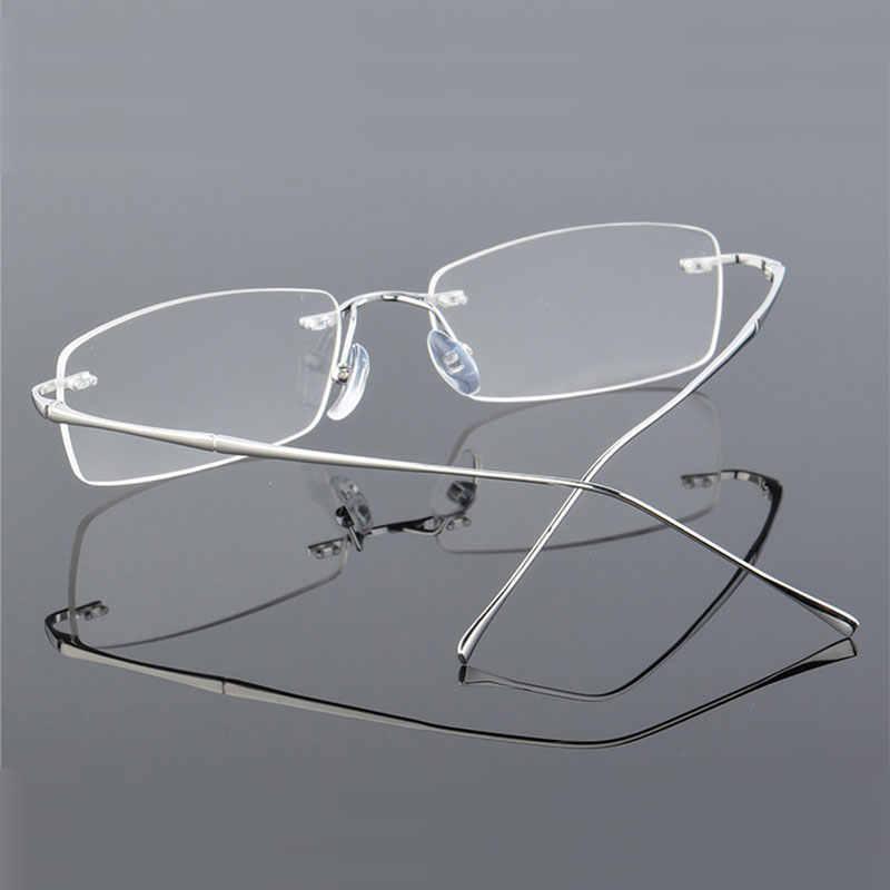 f1708ada8a ... Reven Jate 632 Rimless Men Eyeglasses Frame Optical Prescription  Glasses for Man Eyewear Fashion Rimless Spectacles