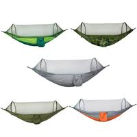 Portable Outdoor Mosquito Net Hammock Parachute Fabric Hanging Swing Sleeping Bed Tree Mesh Hammocks E5M1