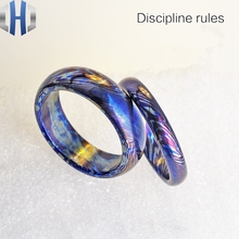 18.5mm Titanium Ma Shige Color Ring Forced Metal Restraint Edc Burning Blue
