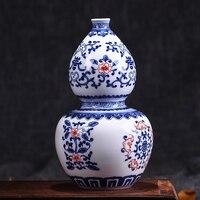 Jingdezhen Antyczne Underglazed Niebieski I Biały Ceramiczny Wazon Glazury Ceramiczny Wazon Kwiat Dekoracji Wnętrz Kryształowe