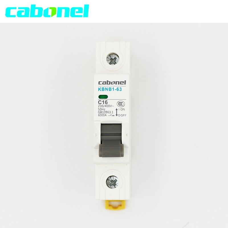 Cabonel Mini Disjoncteur MCB 1 P 230/400 V 50Hz 16A 20A 25A 32A 63ACabonel Mini Disjoncteur MCB 1 P 230/400 V 50Hz 16A 20A 25A 32A 63A